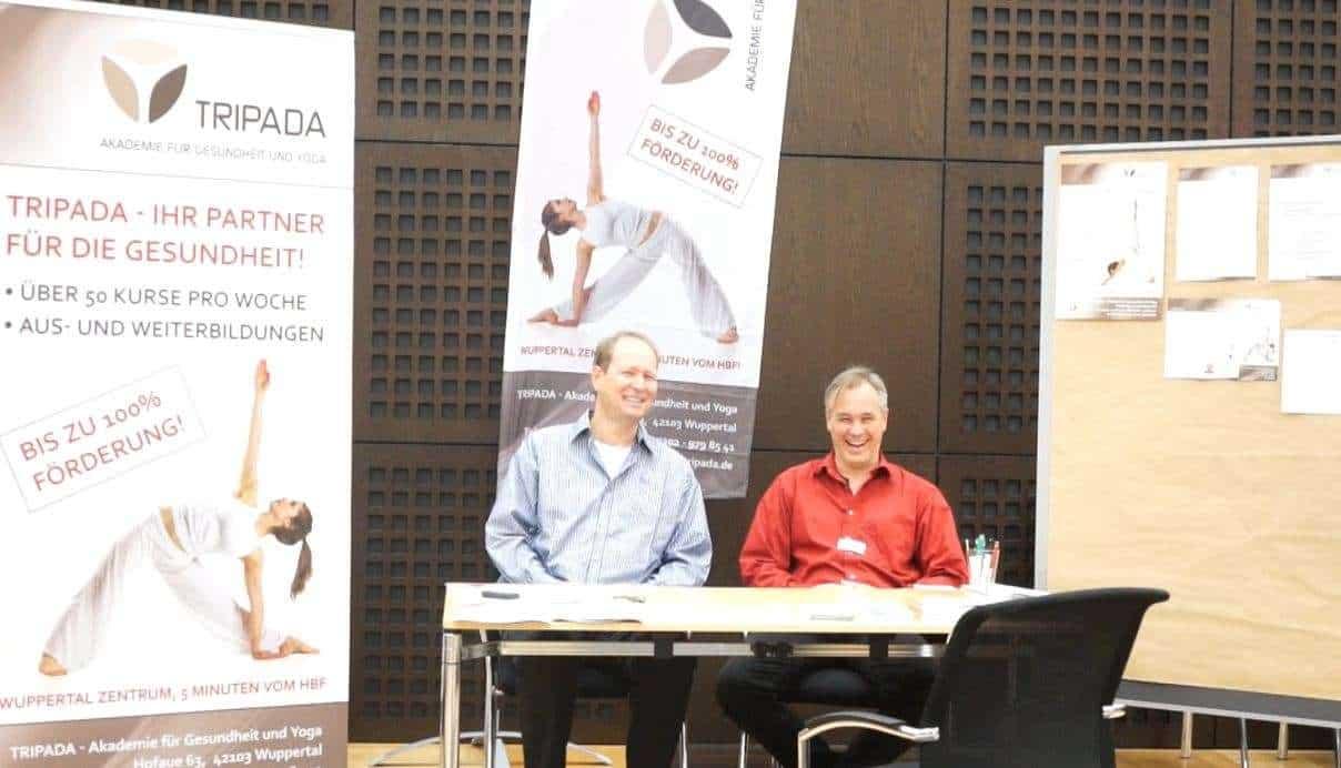 Hans Deutzmann und Dr.Klische auf dem Gesundheitstag der Barmenia