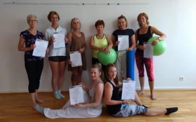 Erfolgreicher Abschluss der Pilatestrainer Ausbildungsklasse 2018